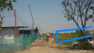 ขายที่ดิน ใกล้สนามบินสุวรรณภูมิ พื้นที่ 50 ตารางวา เหมาะสร้างบ้านอยู่เอง ถมดินแล้ว